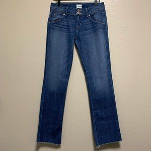 Hudson Beth Baby bootcut denim jeans raw hem